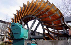 Mittelschlächtige Wasserräder von HydroWatt